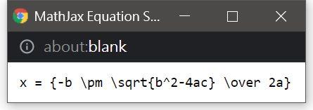 How a formula was written in MathJax LaTeX format